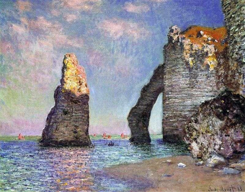 Aiguille i Port dAval   Claude Monet