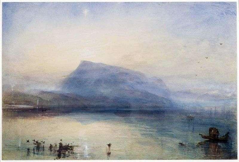 Mount Riga: Widok na Jezioro Czterech Kantonów o wschodzie słońca   William Turner