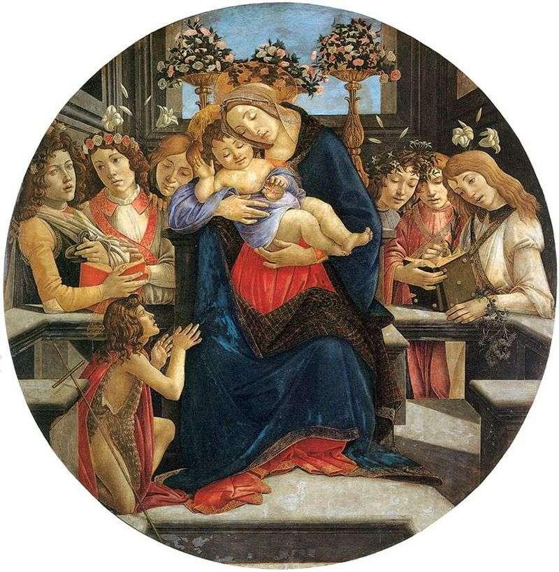 Madonna z Dzieciątkiem, Anioły i Święty Jan Chrzciciel   Sandro Botticelli