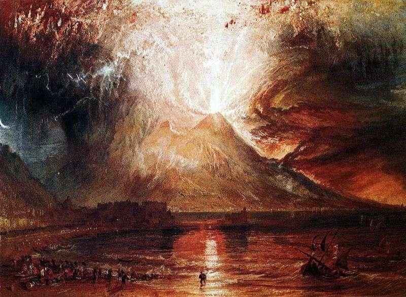 Erupcja Wezuwiusza   William Turner