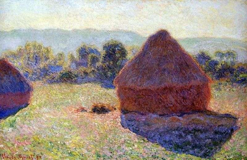 Stóg siana w słoneczne popołudnie   Claude Monet
