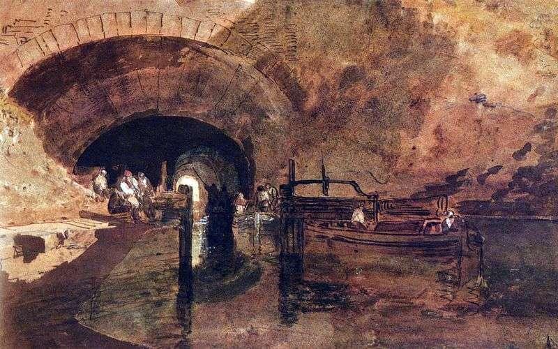 Kanał w tunelu niedaleko Leeds   William Turner