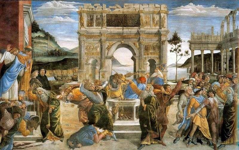 Kara lewicowych lewitów   Sandro Botticelli