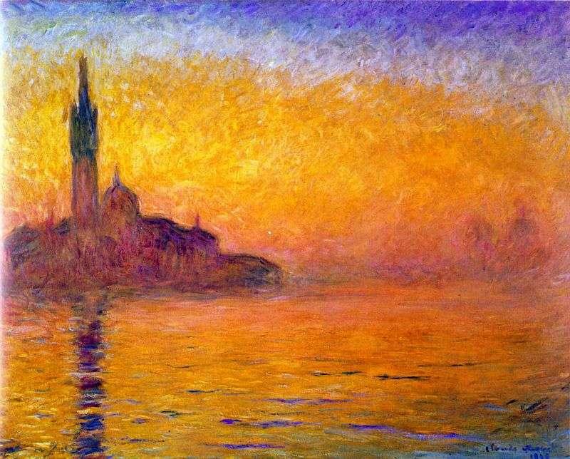 Zmierzch. Wenecja   Claude Monet