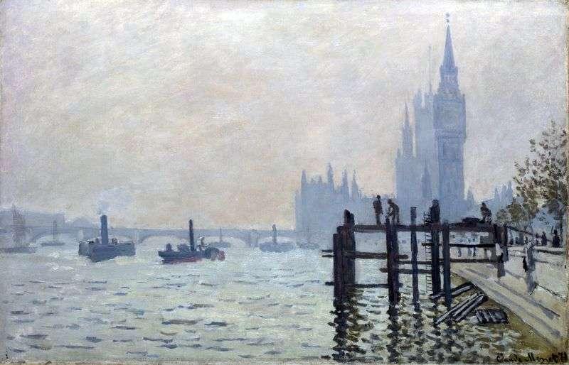 Tamiza, Westminster   Claude Monet