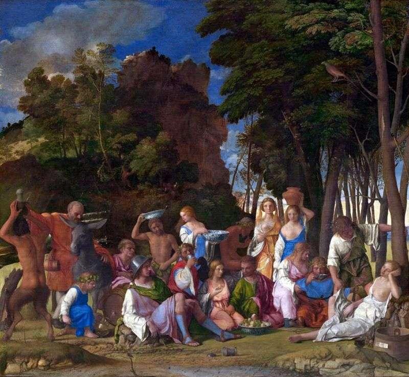 Święto Bogów   Tycjan Vecellio
