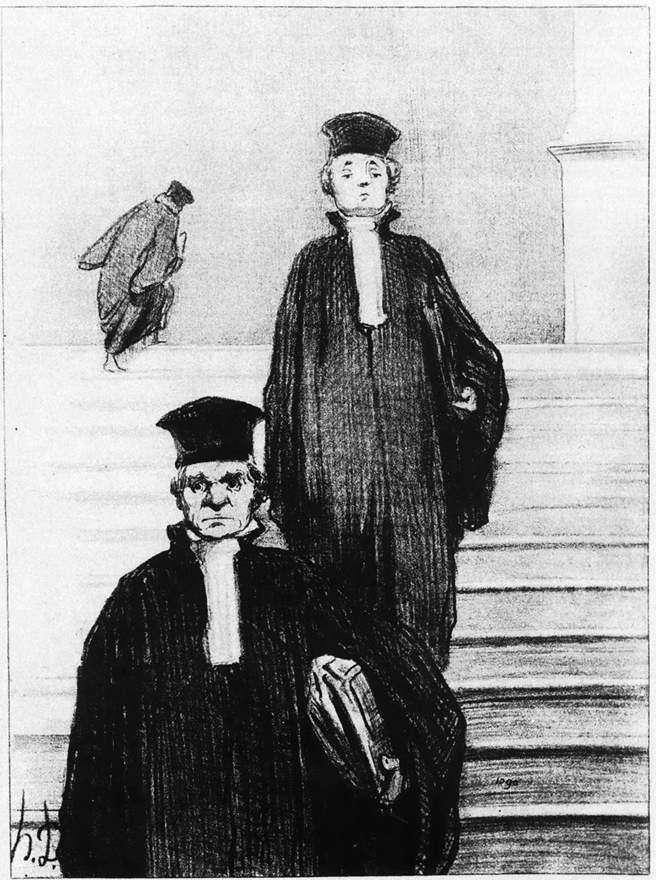 Wielkie Schody Pałacu Sprawiedliwości   Honore Daumier