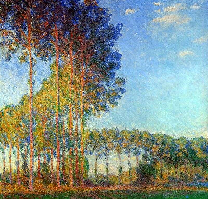 Topole nad brzegiem rzeki Epta   Claude Monet