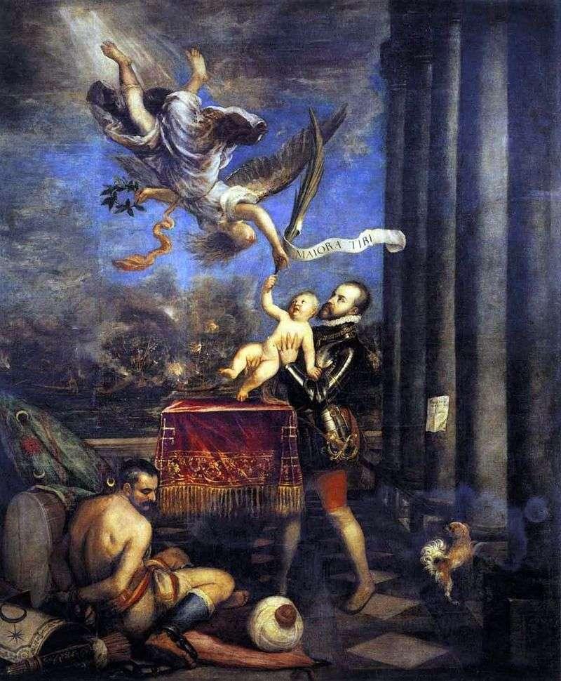 Oferując Filipa II   Titian Vecellio