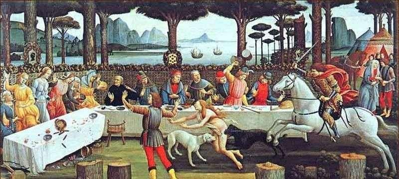 Nokla Boccaccio Nastajo degli Onesti trzeci odcinek   Sandro Botticelli