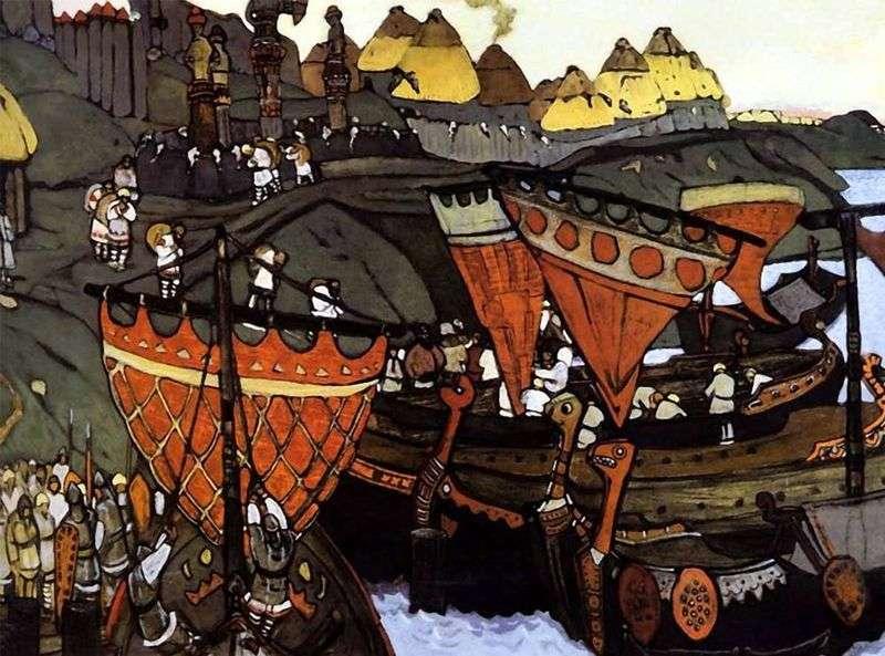Słowianie nad Dnieprem   Mikołaj Roerich