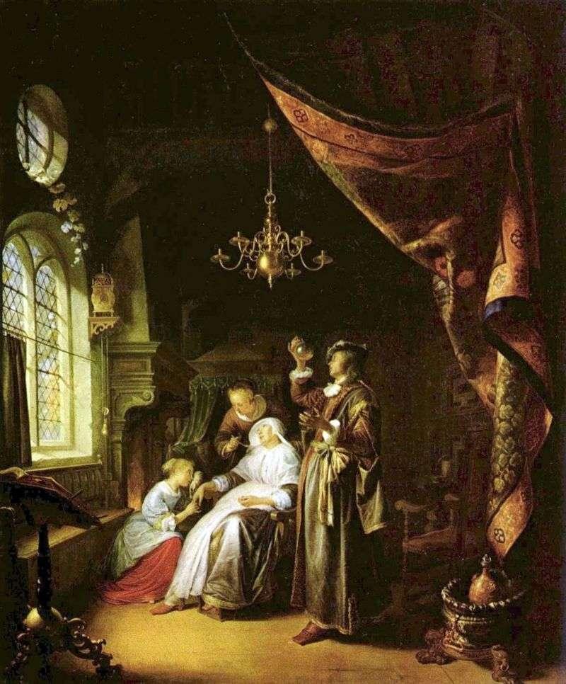 Chory i lekarz   Gerard (Gerrit) Dow