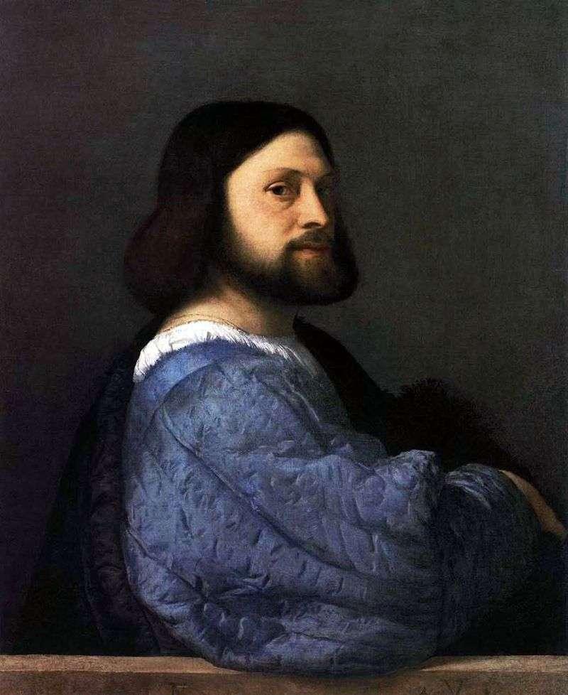 Portret mężczyzny (Ariosto)   Titian Vechelio