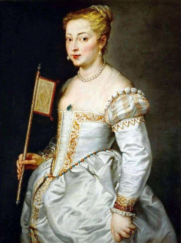 Portret pani w białej sukni   Titian Vechelio