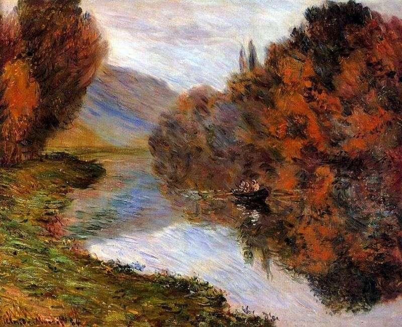 Łódź żeglująca po Sekwanie   Claude Monet