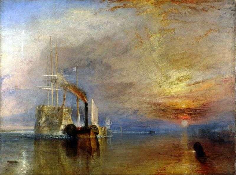 Ostatni lot odważnego statku   William Turner
