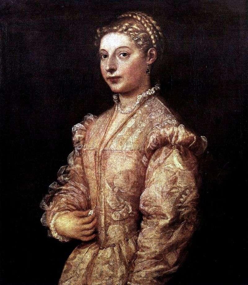 Portret dziewczynki   Titian Vecellio