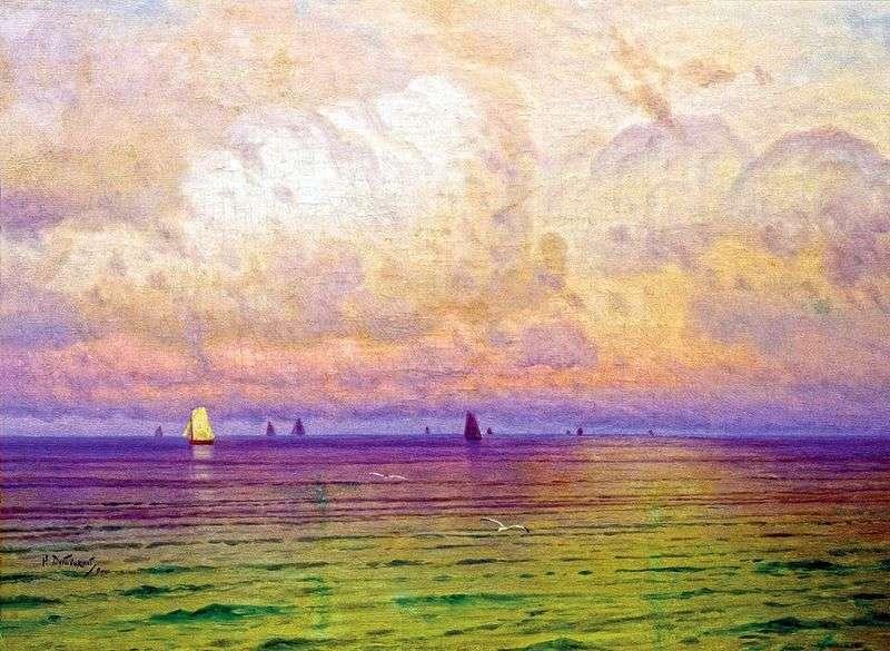 Morze Jachty żaglowe   Nikolay Dubovsky