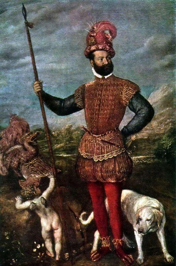 Portret Giovanni Francesco Aquaviva, książę Atri   Titian Vecellio