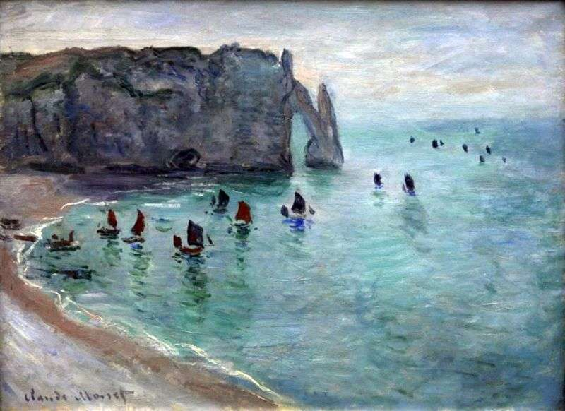 Etretat, Port DAval   Claude Monet