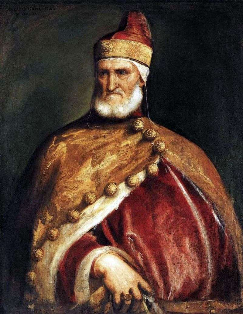 Portret doży Andrei Gritti   Titian Vecellio