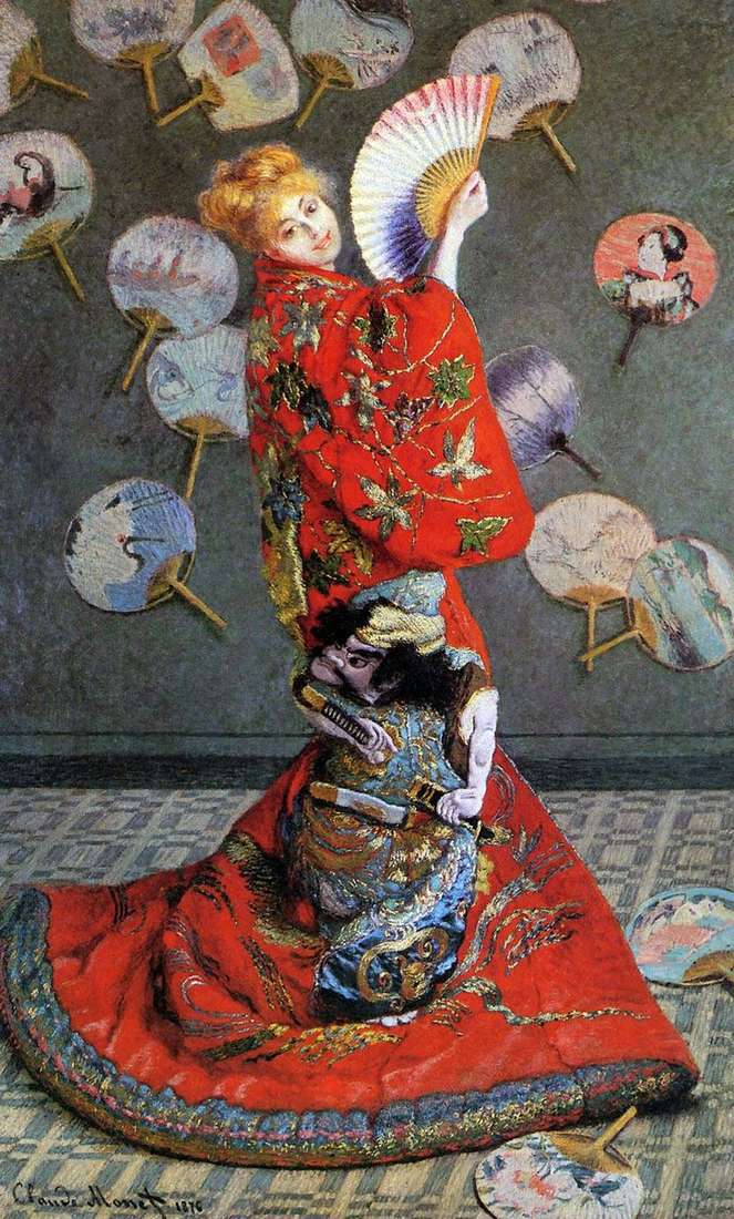 Japonka (Camilla Monet w japońskim kostiumie)   Claude Monet