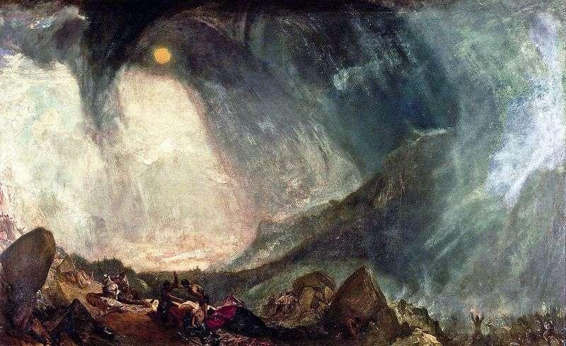Burza śnieżna Armia Hannibala przekraczająca Alpy   William Turner