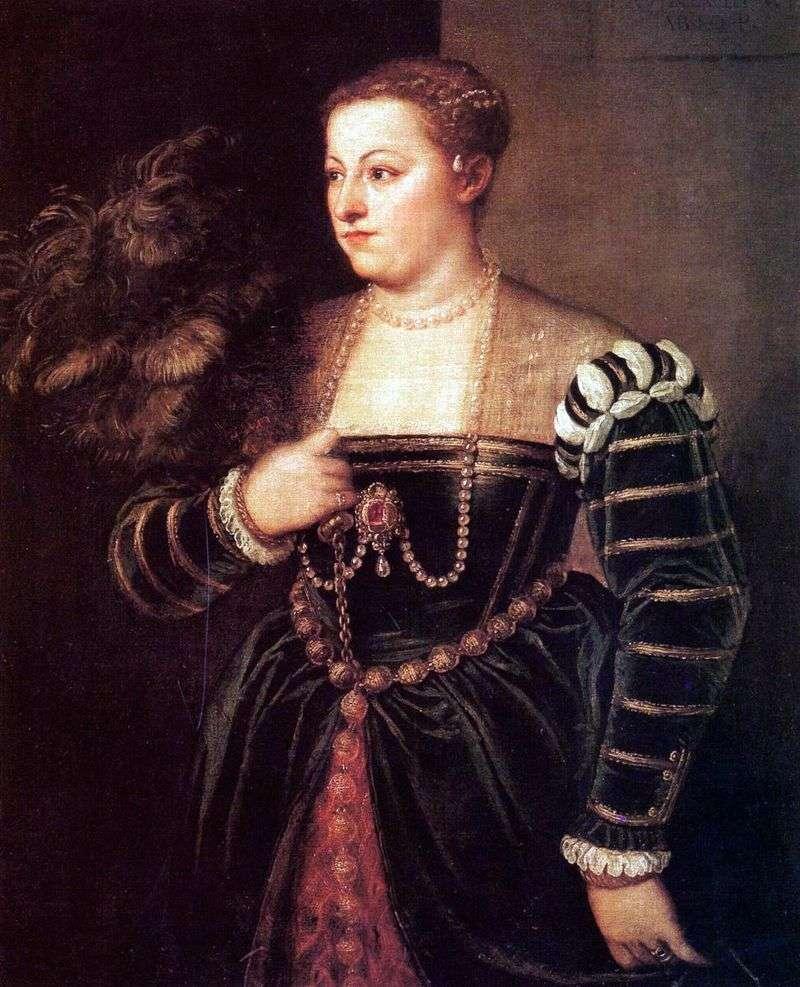 Portret córki Tycjana Lavinia   Titian Vecellio