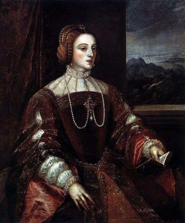 Portret Isabella Portugalii   Titian Vecellio