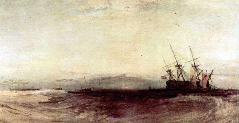Statek osiadł na mieliźnie   William Turner