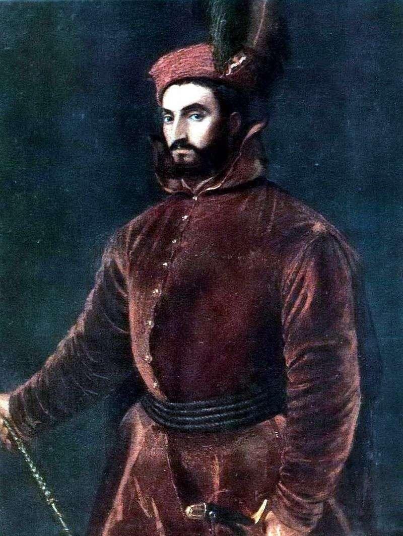 Portret kard. Ippolito de Medici   Titian Vecellio