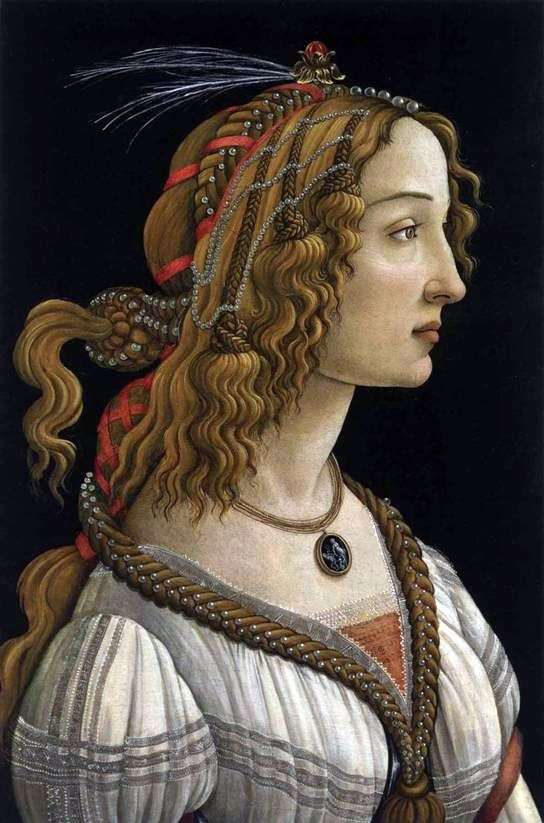 Portret młodej kobiety   Sandro Botticelli