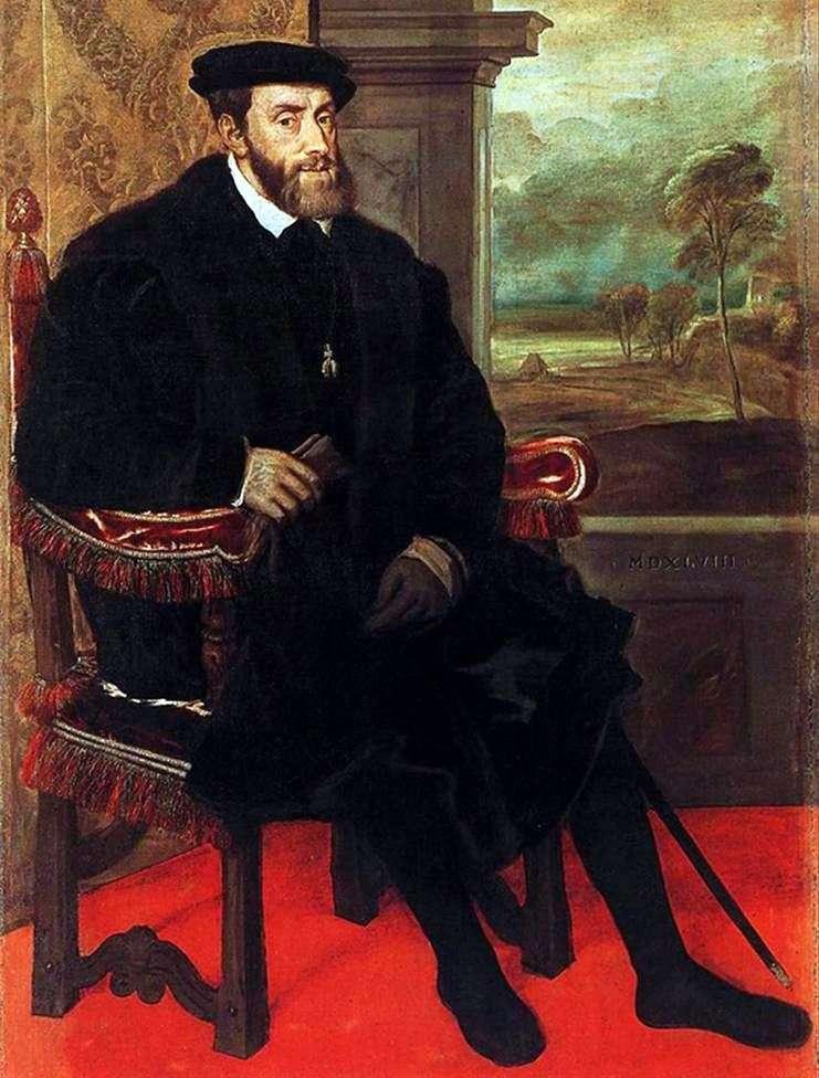Portret Charlesa V w katedrze   Titian Vecellio