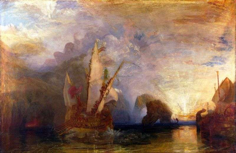 Ulysses Scoffs at Polyphemus   William Turner