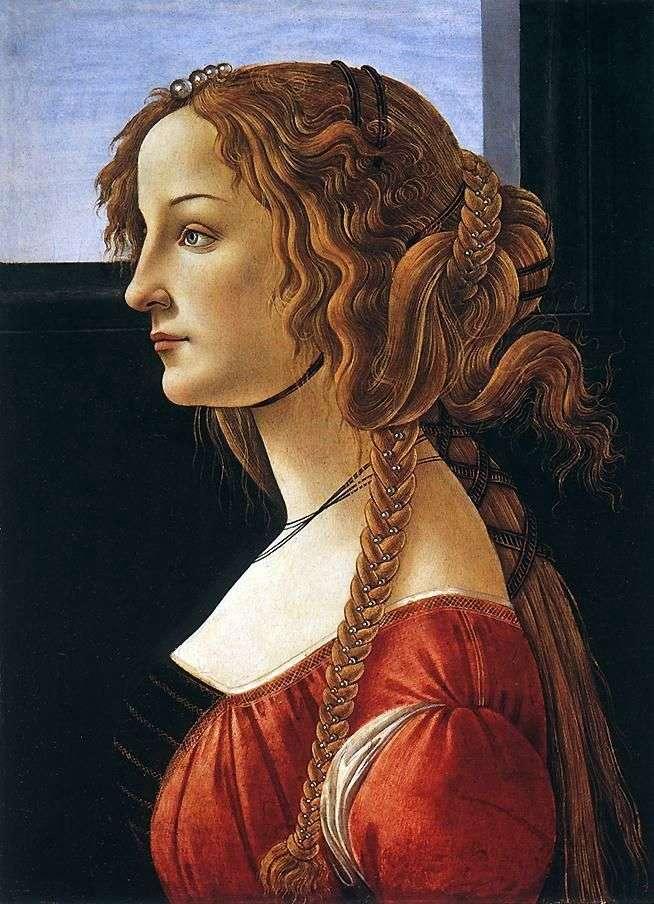 Portret Simonetty Vespucci   Sandro Botticelli