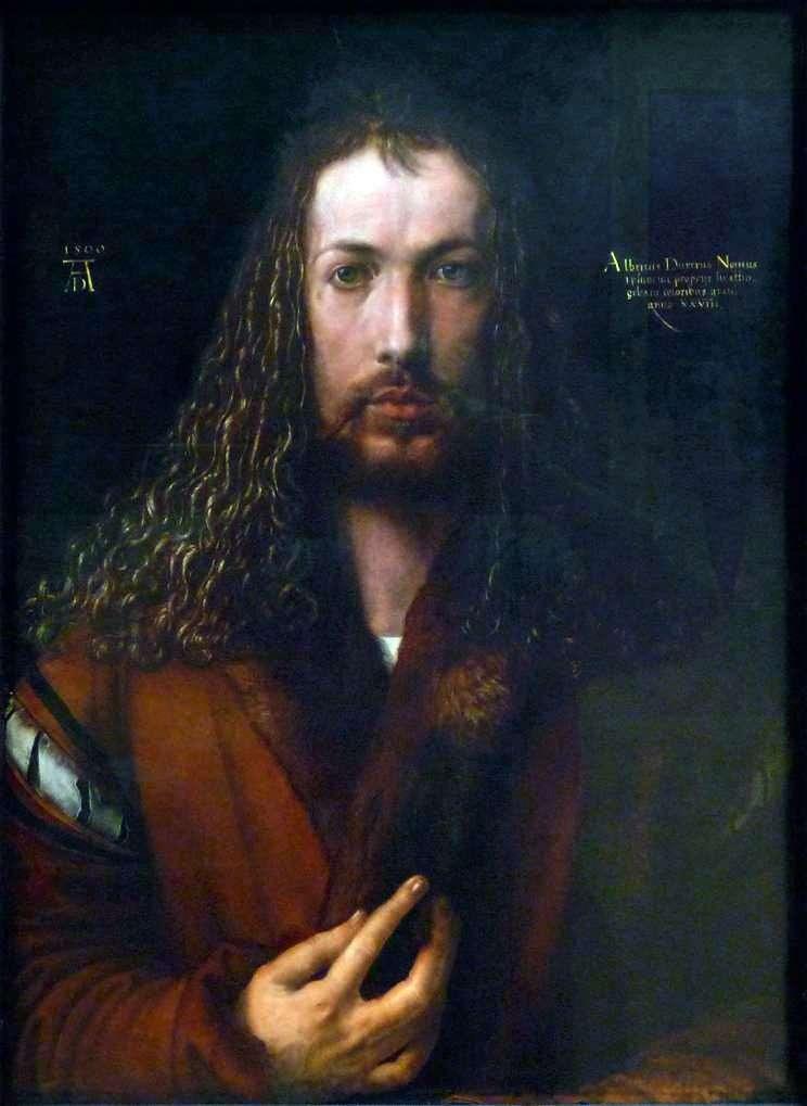 Autoportret (1500 rok)   Albrecht Durer