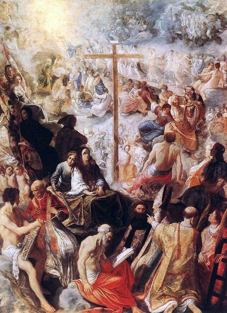 Gloryfikacja krzyża   Adam Elsheimer