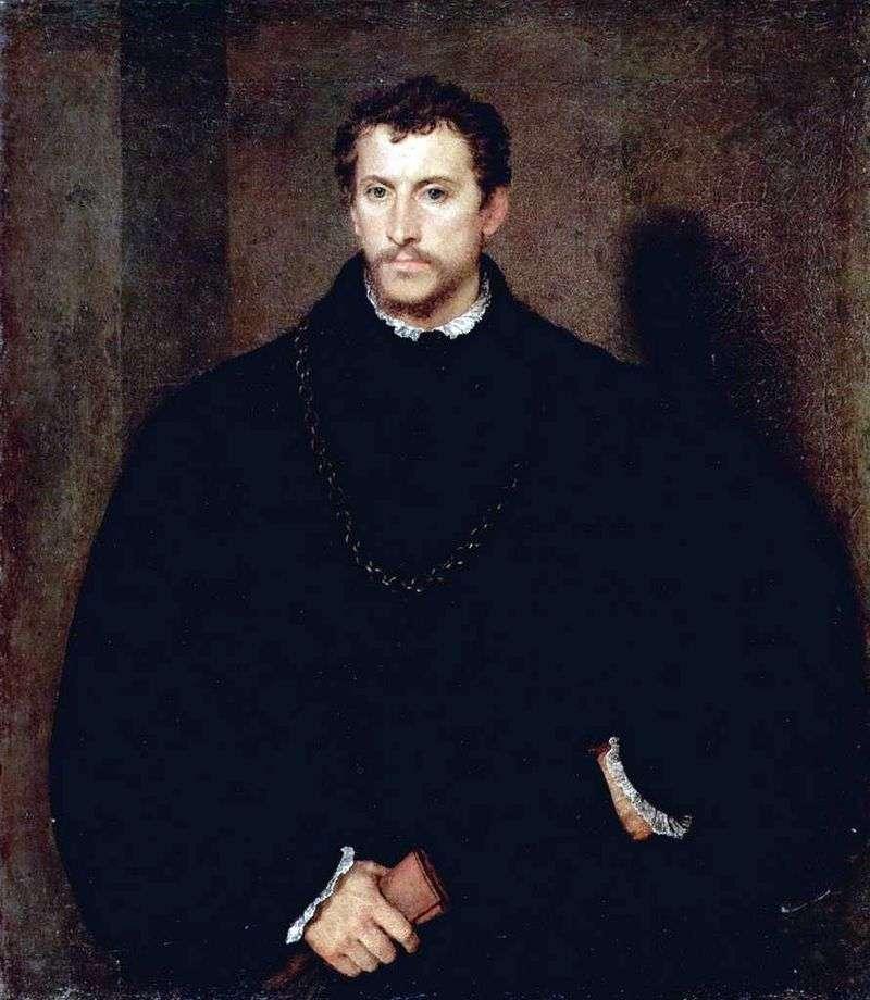Portret młodego mężczyzny (portret Ippolito Riminaldi)   Titian Vechelio