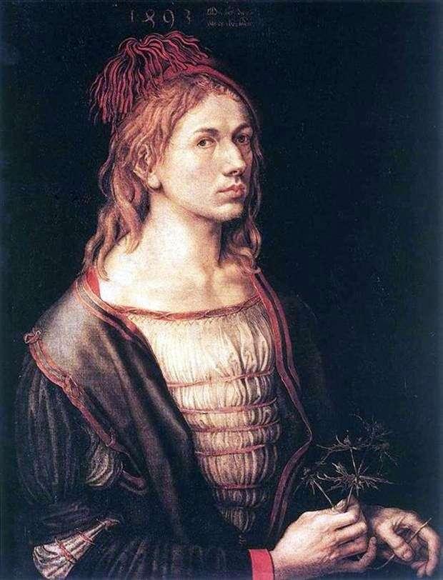 Autoportret w 1493 roku   Albrecht Durer