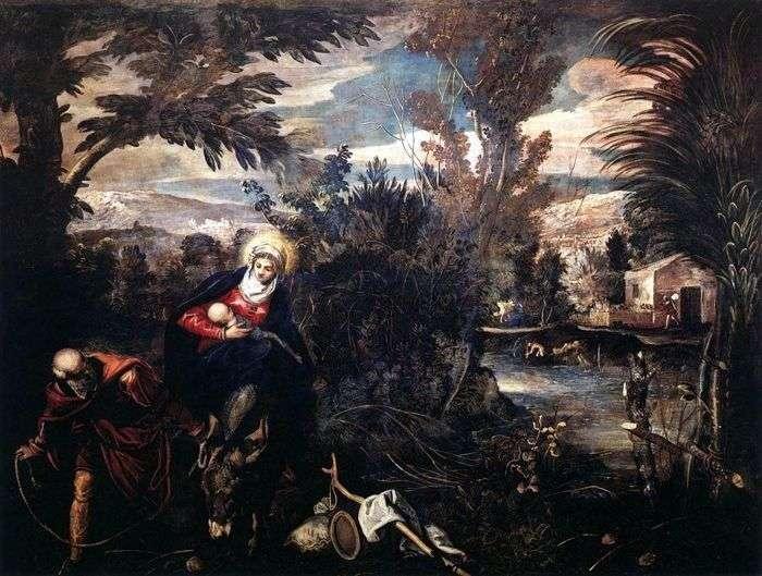 Przenoszenie krzyża   Jacopo Tintoretto