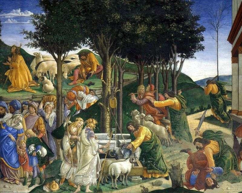 Powołanie i próby Mojżesza   Sandro Botticelli