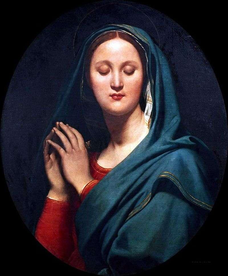 Dziewica w niebieskim welonie   Jean Auguste Dominique Ingres