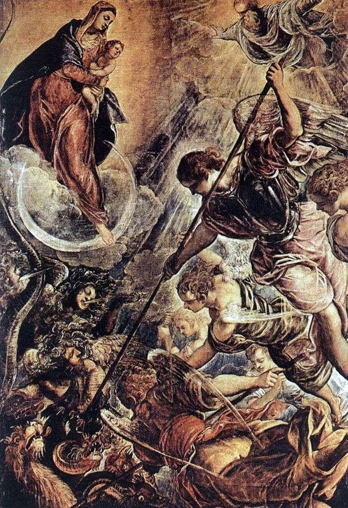 Bitwa Archanioła Michała z Szatanem (II piętro XVI wieku)   Jacopo Tintoretto