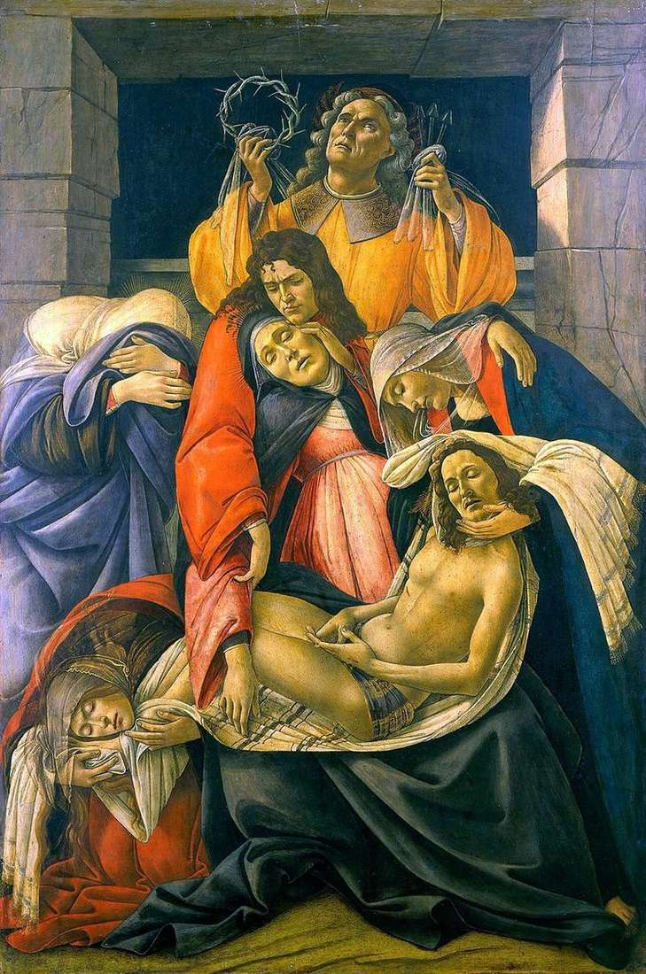 Pieta (Mourning)   Sandro Botticelli