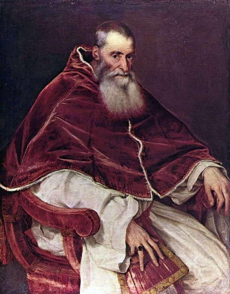 Portret Pawła III   Tycjan Vecellio