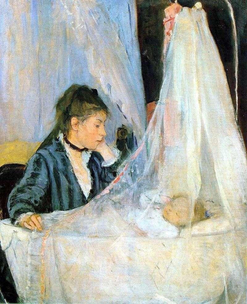 Cradle   Bertha Morisot