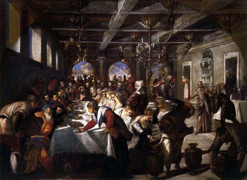 Małżeństwo w Kanie Galilejskiej   Jacopo Tintoretto