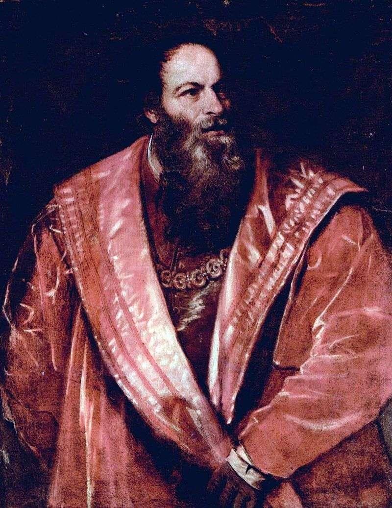 Portret Pietro Aretino   Titian Vecellio