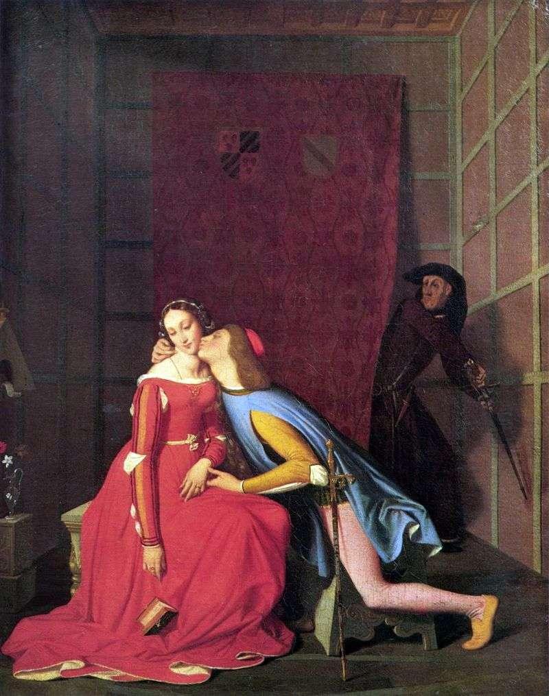 Janchotto wyprzedza Paola i Francescę   Jean Auguste Dominique Ingres
