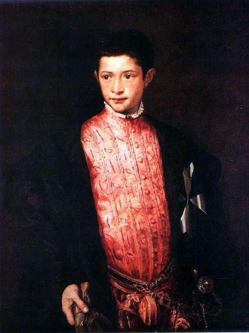 Portret Ranuccio Farnese   Titian Vecellio